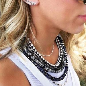 Stella and dot convertible collar necklace